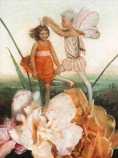 Illustration by Nadezhda Illarionova (Russian) for Thumbelina by Hans Christian Andersen Hans Christian, Dragons, Andersen's Fairy Tales, Morris, Fairytale Art, Children's Book Illustration, Food Illustrations, Faeries, Fantasy Art