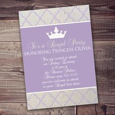 Princess Invitation FREE wording customization by AmysSimpleDesigns on Etsy  It's a royal paw-ty