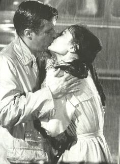 Audrey Hepburn and George Peppard in Breakfast At Tiffany's(1961).