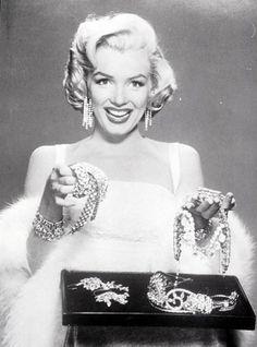 Marilyn Monroe...diamonds are a girl's best friend
