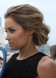 Lauren Conrad crispy coupe More #UpdosLoose