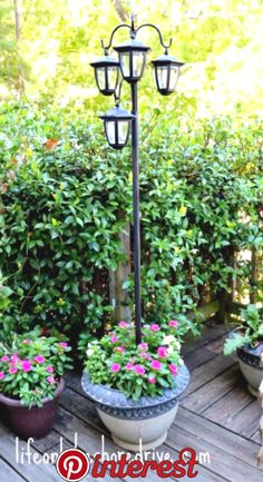 36 Outdoor Planters Your Patio Needs Today   Do you love having cute pots and tables adorned with plants to decorate your patio? Well, I have 36 awesome outdoor planters that you will love. From succulents to flowers, anything can go in your planter. These projects make excellent gifts too. For.. Diy Planters Outdoor, Diy Patio, Backyard Patio, Backyard Landscaping, Patio Ideas, Landscaping Ideas, Backyard Ideas, Outdoor Lamps, Garden Planters