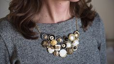 How To Make A Vintage Button Necklace