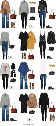 What to Pack for New York, Boston, and Philadephia Outfit Options 1-12