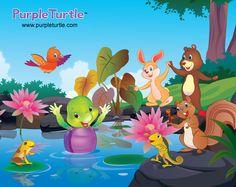 Purple and Friends Purple Turtle, School Videos, Early Learning, Pre School, Homeschool, Nursery, Hero, Friends, Kids
