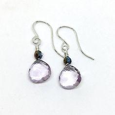 Amethyst Earrings Gemstone Earrings Pink Amethyst Drop Pink Amethyst, Amethyst Earrings, Drop Earrings, Handmade Accessories, Handmade Jewelry, Unique Jewelry, Sterling Silver Jewelry, Gemstone Jewelry, Etsy Handmade