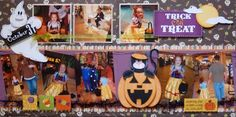 A Sweet Halloween (KNG Kit)... #Scrapbook #Layout #Scrapbooking  #Page #Scrap