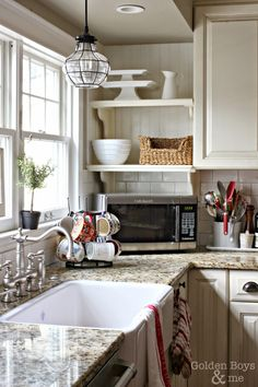 Over the sink kitchen lighting Images Diy White Kitchen With Farmhouse Sinkwwwgoldenboysandmecom Thelionandthelambinfo Over Sink Lighting For Kitchen Lighting Pinterest Kitchen