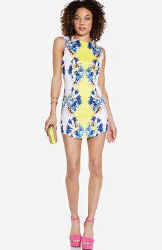 Blaque Label Floral Print Dress