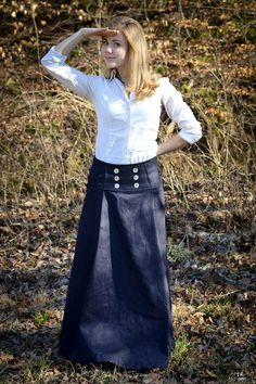 DIY Long Sailor Skirt. Working with Eager Hands.