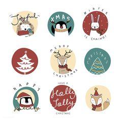 Hand drawn animals wishing a Merry Christmas Christmas Graphics, Diy Christmas Cards, Christmas Doodles, Christmas Stickers, Christmas Settings, Outdoor Christmas Decorations, Christmas Design, Christmas Art, Merry Christmas Drawing
