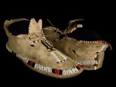 Cheyenne or Arapaho mocs, mid 19th century.  David Cook Gallery