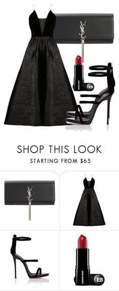 """Untitled #4834"" by beatrizvilar on Polyvore featuring Yves Saint Laurent, Alex Perry and Giuseppe Zanotti"
