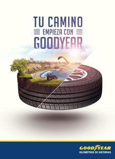 GOODYEAR - Kilometros de historias by Gino Giancarlo Cáceres Carbajo, via Behance