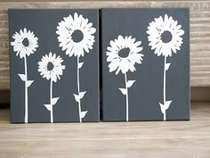 flowers and canvas