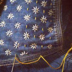 Sashiko shirt. Wip