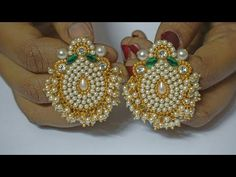 How To Make Pearls Designer Earrings | Paper Earrings | Jewellery Making|DIY+earring(earring)diaries - YouTube