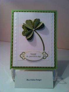 Stampin' Up! Card  by Helen at Blue Dahlia Designs: Shamrock