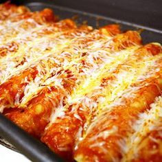 21 Day Fix Approved Chicken Enchiladas (Homemade Sauce) Recipe | Yummly