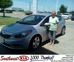https://flic.kr/p/H1HMt9 | Congratulations Rita on your #Kia #Forte 5-Door from Justin Sharber at Southwest KIA Rockwall! | deliverymaxx.com/DealerReviews.aspx?DealerCode=TYEE