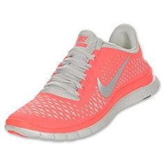 JJC: want to try these!  The Nike Free 3.0 V4 Women's Running Shoes are comfortable and highly flexible so your feet become stronger. The women's running shoes provide a customized, barefoot-like feel during your run. The lightweight upper features a seamless forefoot for exceptional comfort, and a modified Nike Free outsole with flex grooves enhances the foot's flexibility and stability.