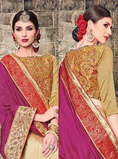 Buy online Urban Naari Art Dupian saree from LadyIndia.com at best Reasonable rates. Provided range is highly praised owing to its best quality, color fastness, skin friendliness and excellent finish.