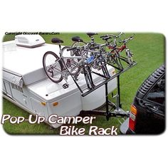 Transport up to 4 bikes on your pop-up c&er trailer with this innovative and unique bike rack from ProRac! Works on virtually any bike or tent trailer ...  sc 1 st  Pinterest & Click this image to show the full-size version. | Camping ...