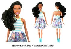 Braids with curly ends. Hair by Karen Byrd. Natural Girls United. www.naturalgirlsunited.com