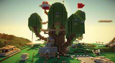 Minecraft Adventure Time treehouse