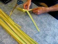 "3 videos to help you make a folded ""Palm Leaf Cross"" craft"