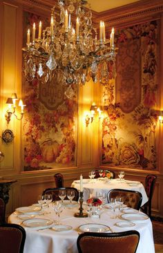 L'Ambroisie Restaurant, Place des Vosges, Paris. So many wonderful memories of great meals with friends and family. in a gorgeous setting,