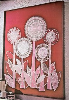 Great idea for upcycled doily tote or pillow