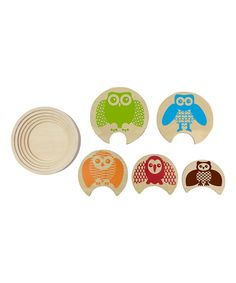 Look at this Studio BGD Green Stacking Owl Puzzle on #zulily today!