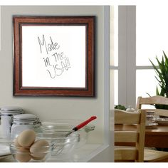 "Rayne Mirrors Country Pine Wall Mounted Whiteboard Size: 46"" x 101"""
