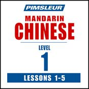 I finished listening to Chinese (Man) Phase 1, Unit 01-05: Learn to Speak and Understand Mandarin Chinese with Pimsleur Language Programs by Pimsleur, narrated by Pimsleur on my Audible app.  Try Audible and get it free.