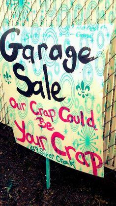 Garage sale!