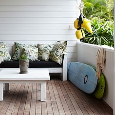 Tropical Home :: Paradise Style :: Living Space :: Dream Home :: Interior + Outdoor :: Decor + Design :: Free your Wild :: See more Tropical Island Home Style Inspiration The Atlantic Byron Bay, Surf Trip, Beach Shack, Tropical Houses, Tropical Patio, Tropical Style, Luxury Accommodation, Beach Cottages, Beach Houses