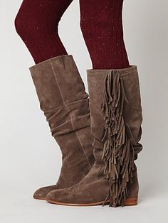 fringe boots--i can already picture all the outfits i could wear with these!
