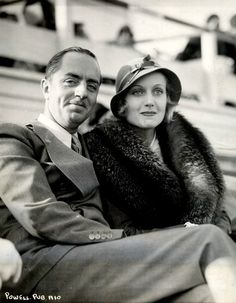 William Powell and Carole Lombard - later they said they were really best friends more than anything else.