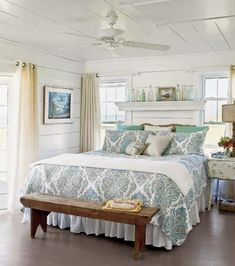 Maybe a beach cottage look for my bedroom would work best? Now this is a look that I can probably pull off in my house! For me a beach co...