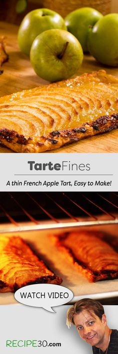 Tarte fines aux Pommes A thin apple tart that's so simple to make!