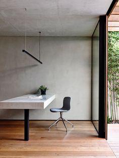 concrete office desk | schulberg demkiw architects