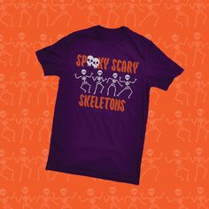 Get your Skeleton swag in, just in time for spooky season! #spookyscaryskeletons #halloweenathome Skeleton Dance, Spooky Scary, Skeletons, Branded T Shirts, Fashion Brands, Swag, Halloween, Mens Tops, Halloween Stuff