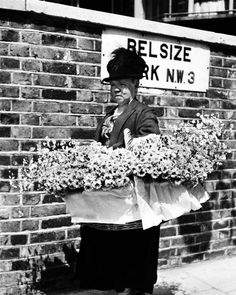 Edwardian flower seller, London