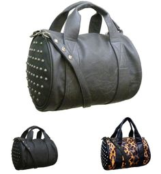 RAMPAGE Handbag Ladies Round Tote Handbag with Metal Spikes Accent RP1214