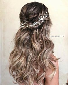 45 Half Up Half Down Wedding Hairstyles Ideas - 30 Wedding Hair Half Up Ideas ♥️ We collected the best wedding hairstyles half up half down that will never go out of style. This bridal hair i. Grad Hairstyles, Wedding Hairstyles For Long Hair, Down Hairstyles, Indian Hairstyles, Braided Bridal Hairstyles, Hairstyles For Bridesmaids, Hairstyles For Weddings, Easy Hairstyles, Dance Hairstyles