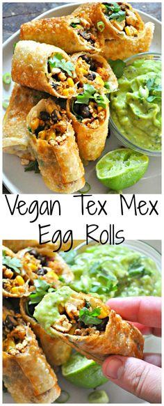 Vegan Tex Mex Egg Rolls - Rabbit and Wolves Cooking Panda, Vegetarian Cooking, Salmon Burgers, Mexican, Tacos, Ethnic Recipes, Food, Salmon Patties, Eten