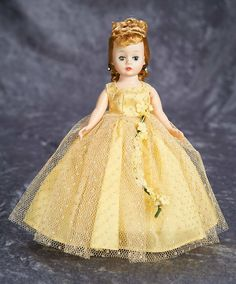 "10"" Cissette in Original Yellow Gown and Labeled Box, 760, by Madame Alexander 300/500"