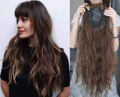 """LXUE 22"""" Wavy Hair Topper with Bangs Add Volume Hair Extension Hair Pieces for Women with Thinning Hair, 613# Blonde : Amazon.ca: Beauty & Personal Care Halo Extensions, Hair Toppers, Thinning Hair, Wavy Hair, Hair Pieces, Hair Loss, Bangs, Hair Care, Personal Care"""