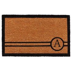 Chelsea Monogram Doormat (Letter Q), Black